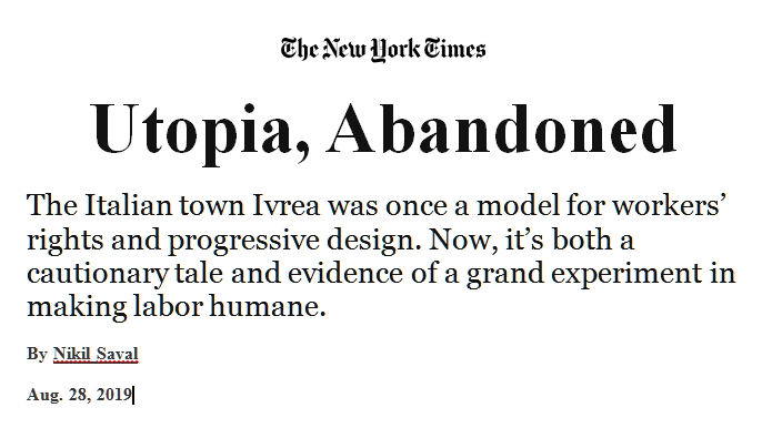 Ivrea sul The New York Times